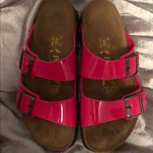 Birkenstock's Papillio Hot Pink Sandals, Size 10
